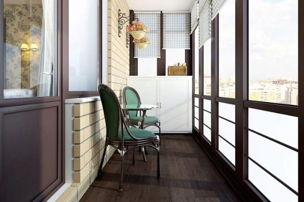 оригинальный дизайн интерьера маленького балкона