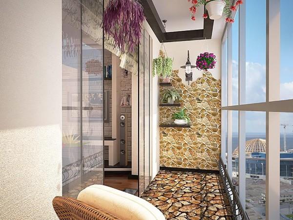 оригинальный дизайн маленького балкона в современном стиле