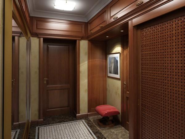 отделка деревом в коридоре дизайн фото в квартире