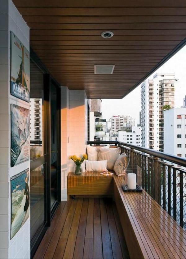 отделка вагонкой маленьких балконов дизайн