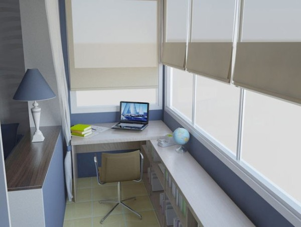 практичный дизайн балкона маленького размера