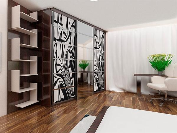шкаф купе в гостиную в современном стиле