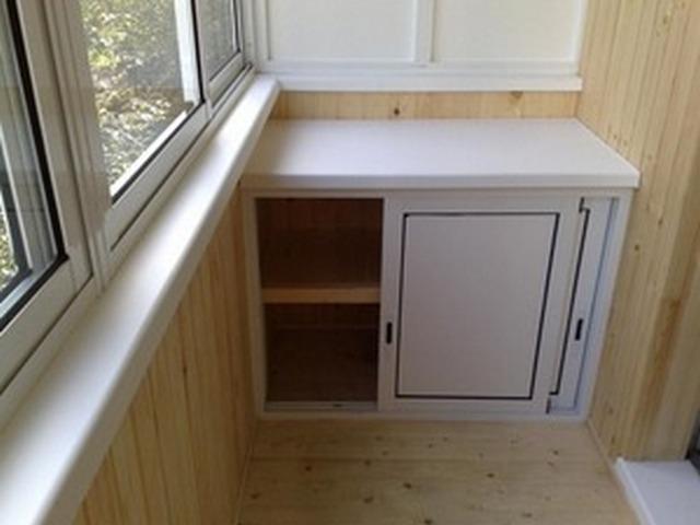 шкафчик на балкон практичное решение