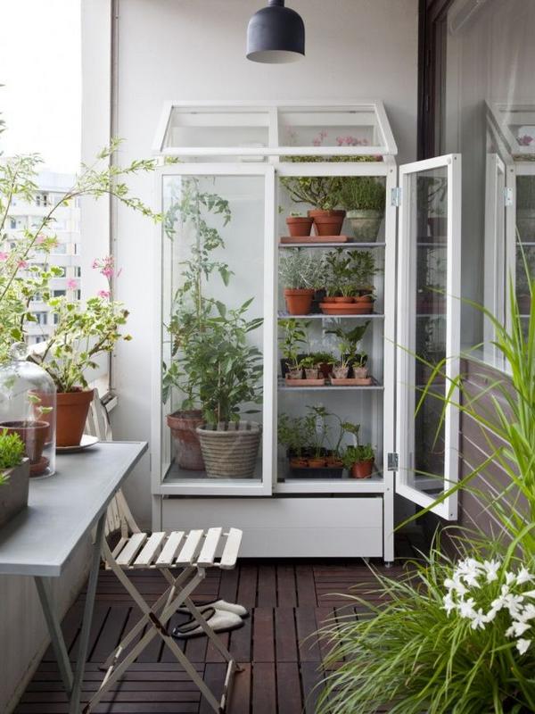 шкафчики на балконе дизайн фото оранжерея