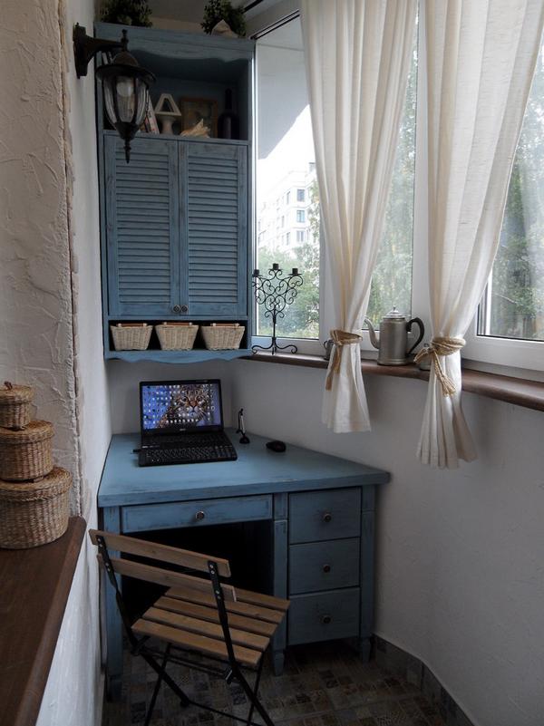 шкафчики на балконе дизайн фото