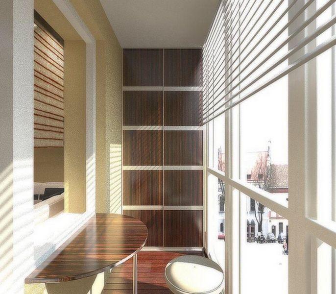 шкафчики на балконе