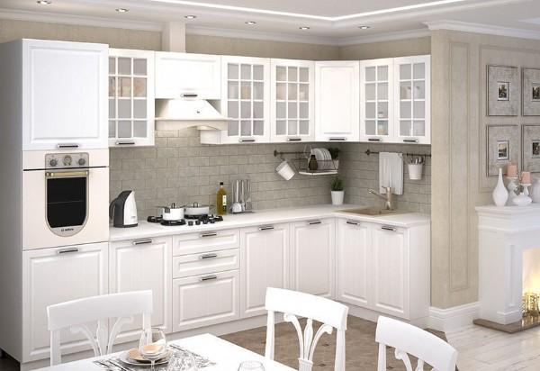 сочетание белого с серым цвета в дизайн фасада кухни