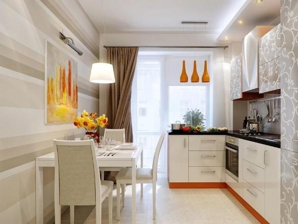 стильная кухня угловая для маленькой кухни в светлых тонах