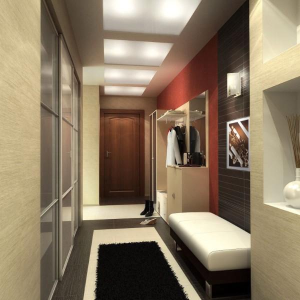 стильный дизайн коридора фото в квартире