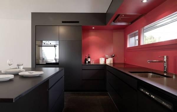 стильный угловой кухонный гарнитур для кухни