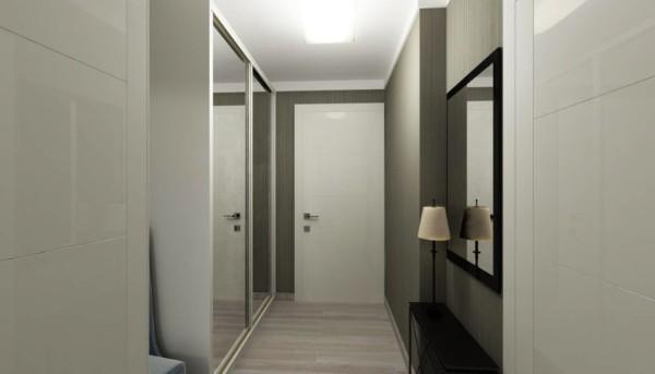 светло оливковый цвет в отделке коридора в квартире