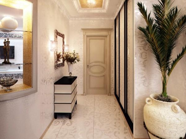 светлые обои в коридоре дизайн фото в квартире