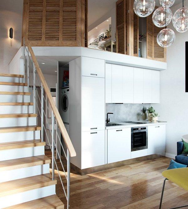 цвет кухонного гарнитура для маленькой кухни фото