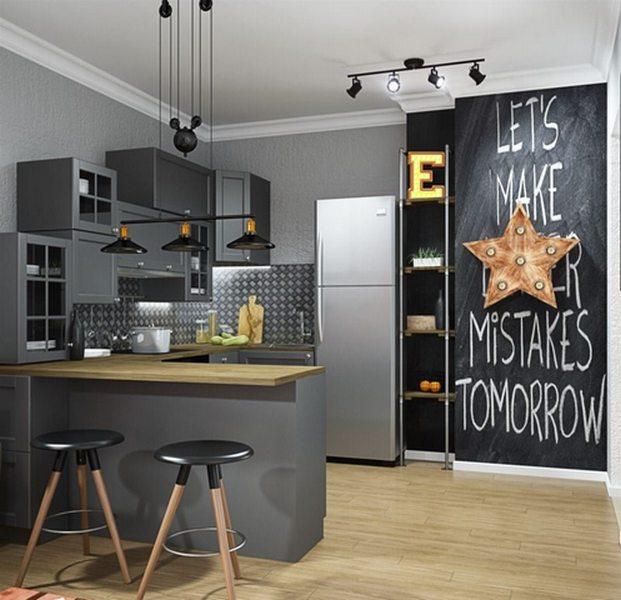 цвет кухонного гарнитура для маленькой кухни