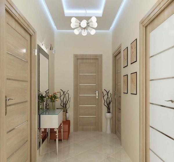цвет слоновой кости в дизайне коридора в квартире