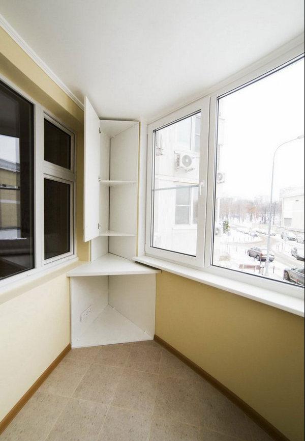 угловой шкаф на балкон особенности выбора и размещения