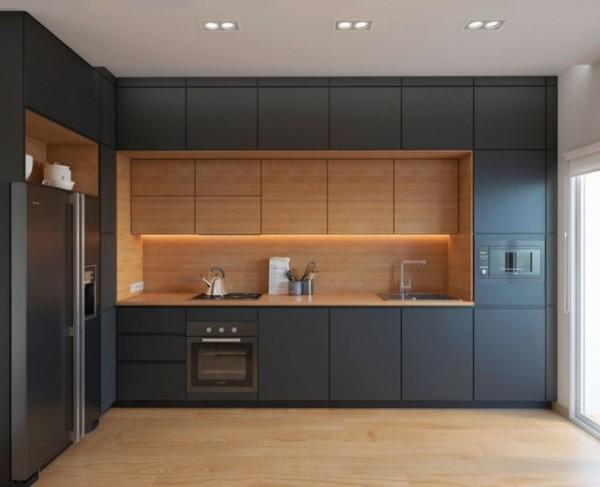 угловой кухонный гарнитур для небольшой кухни модерн