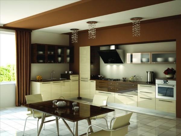 угловой кухонный гарнитур в современном стиле для кухни