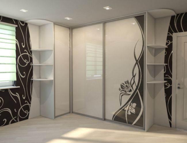угловой шкаф купе в гостиную фото дизайн