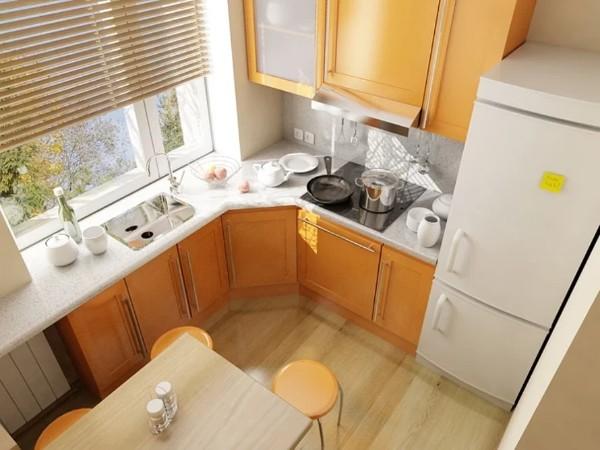угловые кухни на заказ для маленькой кухни