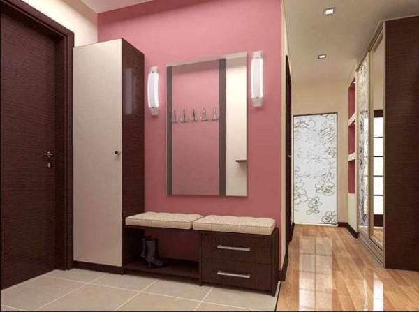 визуальное расширение коридора в квартире пример дизайна