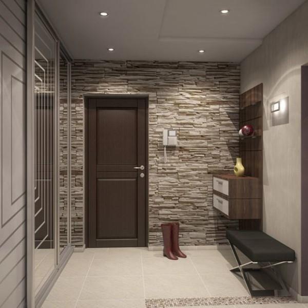 зеркальные поверхности в дизайне коридрора в квартире