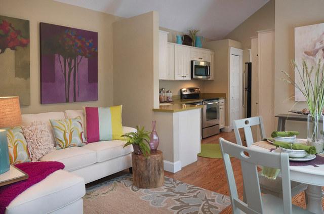 кухня в квартире студии гостиная