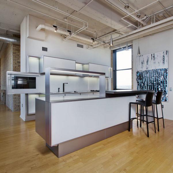 кухня в квартире студии зонирование