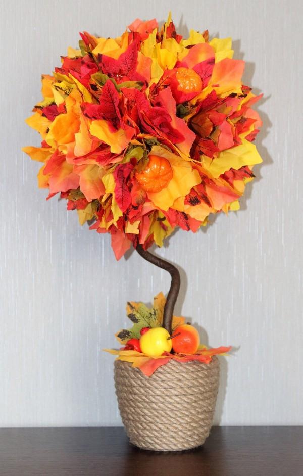 декор из осенних листьев своими руками