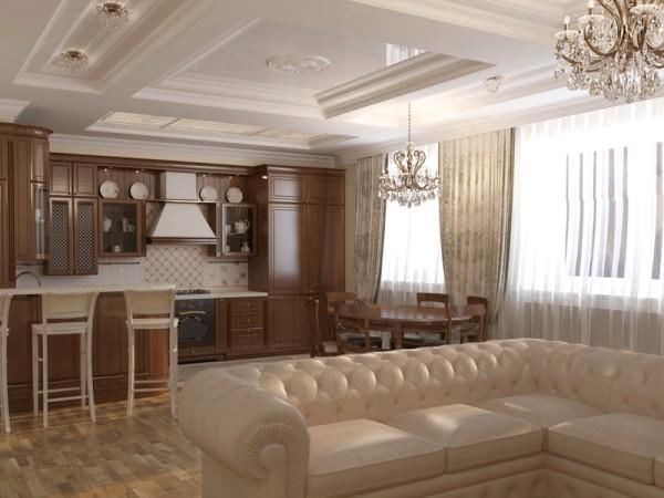дизайн кухни студии 20 кв