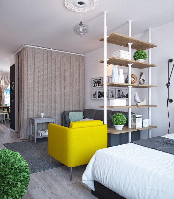 дизайн однокомнатной квартиры гостиная