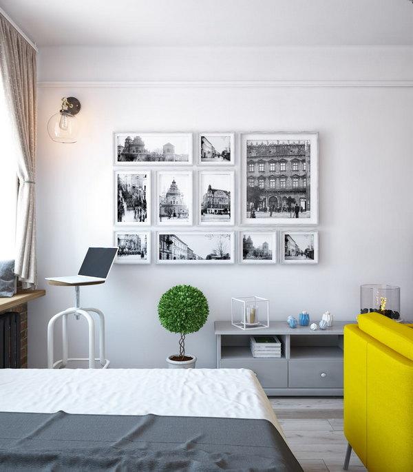 дизайн однокомнатной квартиры рабочее место