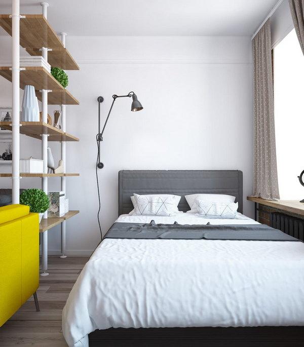 дизайн однокомнатной квартиры спальня