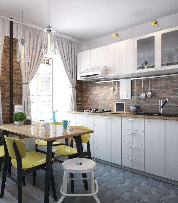 дизайн однокомнатной квартиры столовая