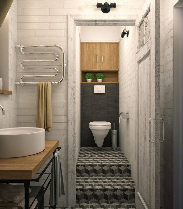 дизайн однокомнатной квартиры уборная
