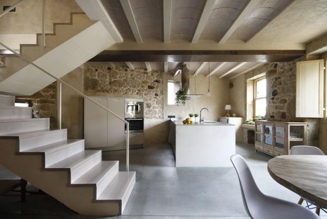 дизайн кухни гостиной в частном доме