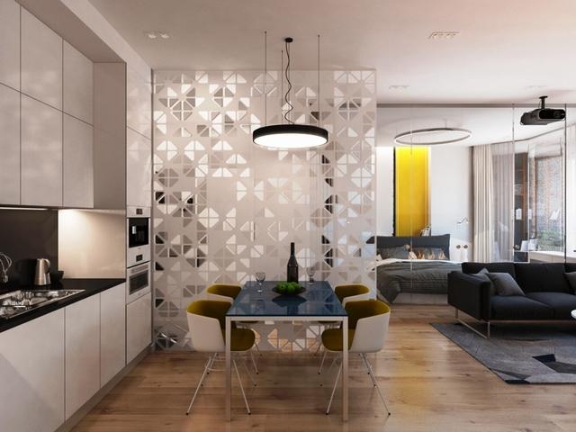 дизайн современной квартиры студии кухня