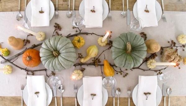 идеи для оформления стола осенний декор своими руками