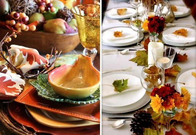идеи осеннего декора комнаты кухня