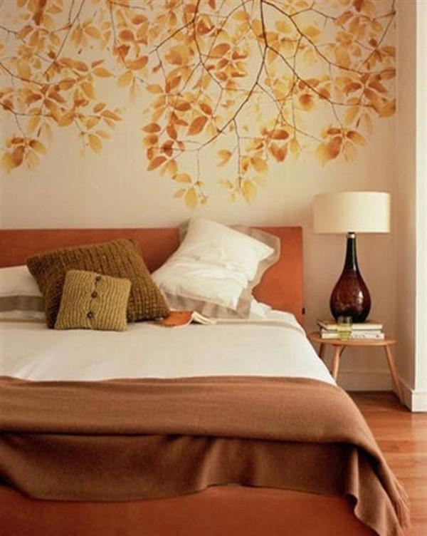 как сделать осенний декор комнаты спальня