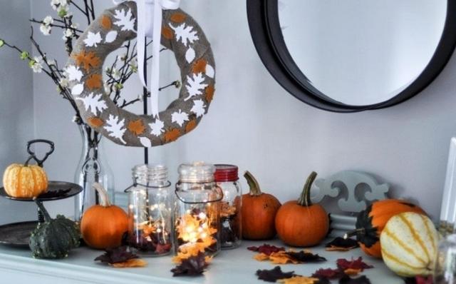 как сделать осенний декор комнаты в стиле хелоуин