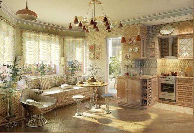кухня гостиная в частном доме дизайн интерьер фото