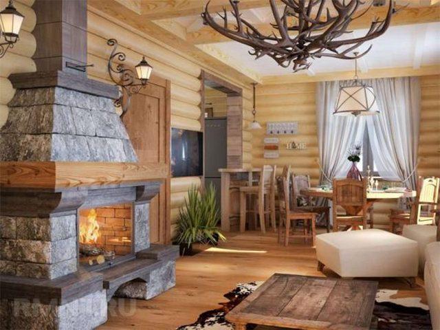 кухня гостиная в частном доме дизайн интерьера на фото