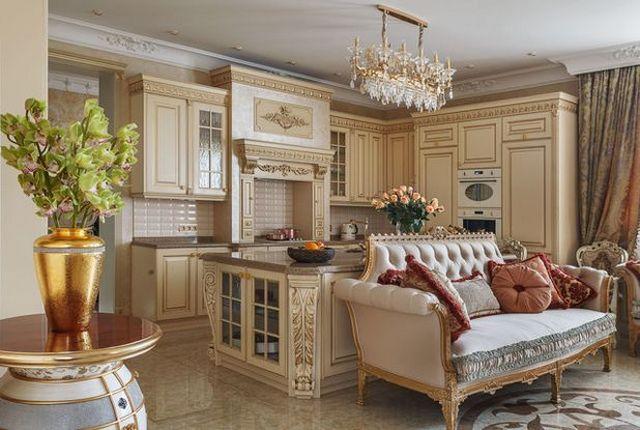 кухня гостиная в частном доме фото примеры