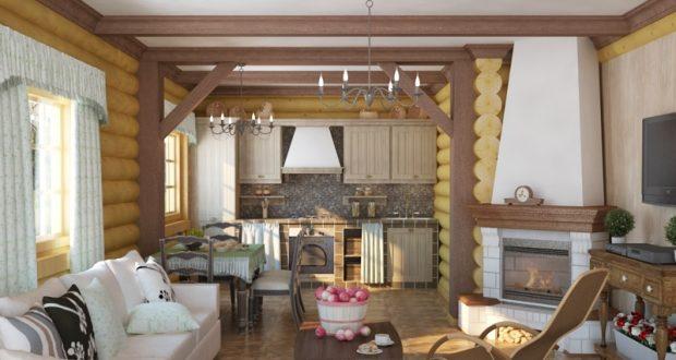 кухня гостиная в частном доме фото реальные