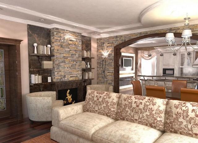 кухня гостиная в частном доме зонирование правильные примеры