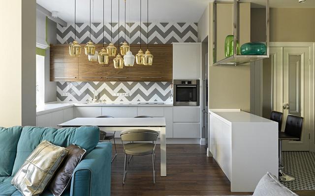 кухня столовая гостиная в частном доме фото примеры