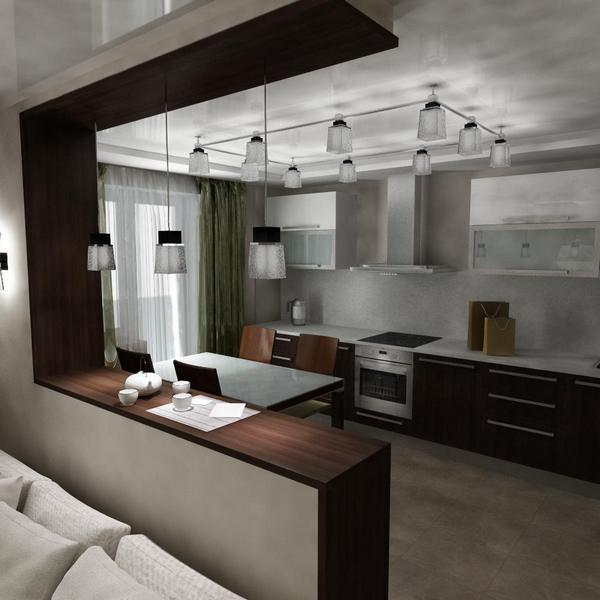 кухня в квартире студии 25