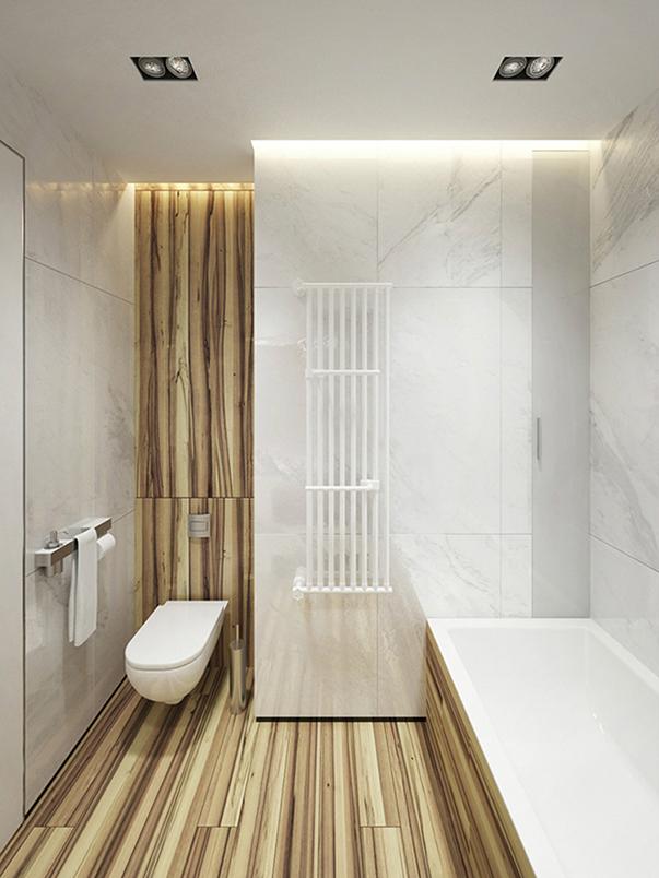минимализм в интерьере малогабаритной квартиры фото ванная