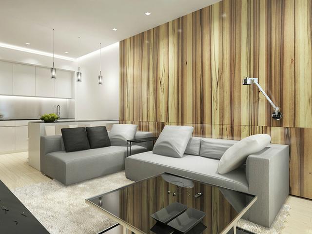 минимализм в интерьере малогабаритной квартиры гостиная